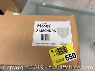 """Maxim 21469NKPN 2 Light 11"""" Tall Wall Sconce  (J18)"""