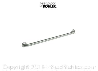 Kohler K-11394-S Transitional 36 Inch ADA and ANSI Compliant Grab Bar (J23)