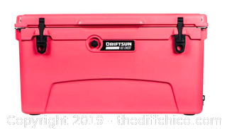 Driftsun 75 Quart Performance Ice Chest - Insulated Rotomolded Cooler - Coral (J1)