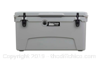 Driftsun 75 Quart Performance Ice Chest - Insulated Rotomolded Cooler - Grey (J2)