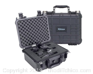 ELKTON OUTDOORS 3 PISTOL HARD GUN CASE- TSA APPROVED: CRUSH RESISTANT & WATERPROOF (J11)