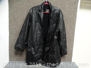 Dockers Leather Jacket med