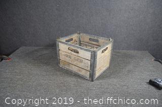 Vintage Royal Crest Milk Crate