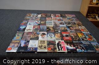 60 VHS Tapes-John Wayne and More