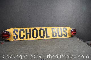 Original School Bus Tail Light-signed on back