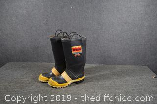Pair of Fire Fighter Boots Size 10
