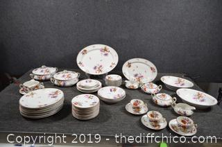 56 Pieces of Haviland Limoges Dishes