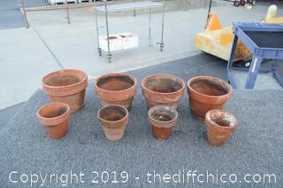 8 Terra Cotta Planter Pots