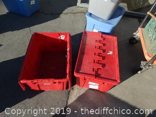 2 Flip Top Crates