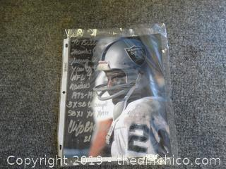 Raiders Autographed Pic Cliff Branch # 21