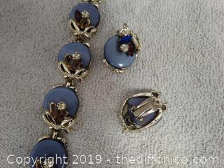 Bracelet & Clip on Earrings