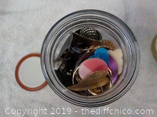 Jar Of Pierced Earrings