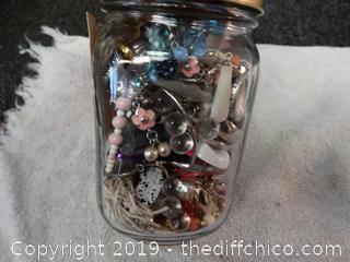 Jar Of Clip On Earrings