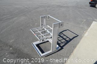 Aluminium Restaurant Tray Dispenser