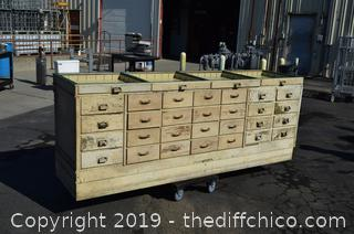 32 Drawer Wood Counter