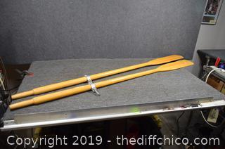 Pair of 72in long Oars