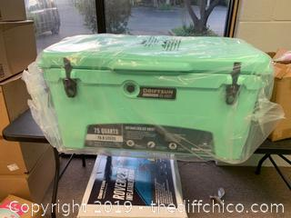 Driftsun 75 Quart Performance Ice Chest - Insulated Rotomolded Cooler - Seafoam (J1)