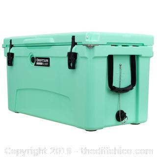 Driftsun 75 Quart Performance Ice Chest - Insulated Rotomolded Cooler - Seafoam (J1)