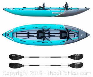 Driftsun Rover 220 Inflatable Two Person Whitewater Kayak (J2)
