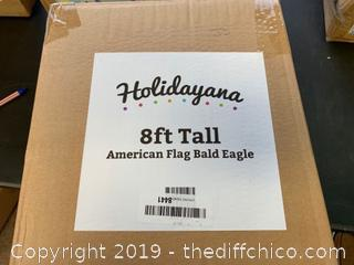 Holidayana Inflatable 4th of July Bald Eagle Decoration with Built-In Fan and LED Lights (J3)