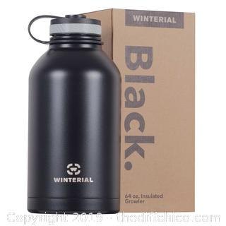 WINTERIAL 64OZ STAINLESS STEEL GROWLER - BLACK (J24)