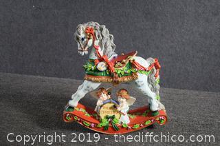 Musical Christmas Rocking Horse