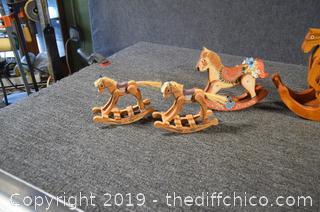4 Wood Rocking Horse
