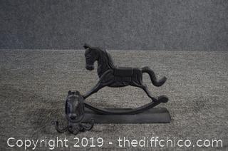 Cast Iron Horse Boot Scrap and Coat Hook