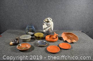 12 Pieces of Pottery