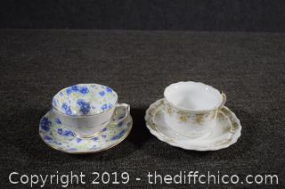 2 Collectible Cup and Saucer Sets
