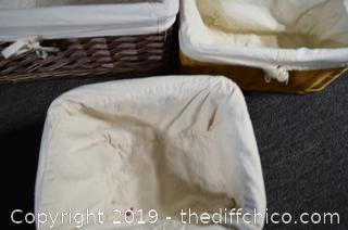 Baskets w/Cloth Liners