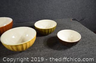 5 Piece Stacking Mixing Bowls