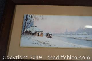 Framed Original Water Color-signed on the back