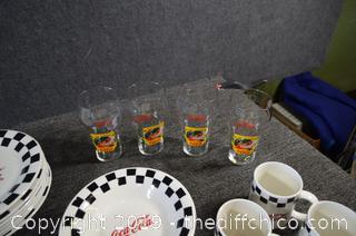48 Pieces of Coca Cola Dishes