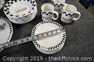 48 Pieces of Coca Cola Dishes
