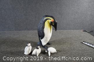 Mother Penguin and Babies