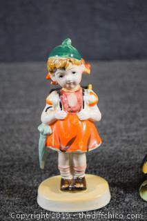 3 Collectible Porcelain Figures
