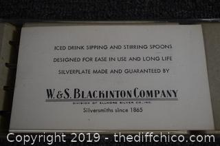 Silver Plate Ice Tea Sipping and Stirring Spoons