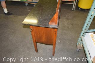 English Wash Table w/Marble Top