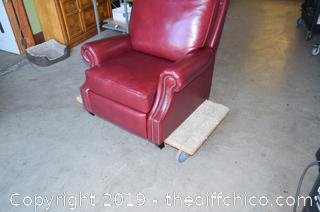 New Pottery Barn Leather Chair / Recliner