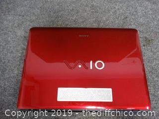Sony VAIO Laptop No Cord
