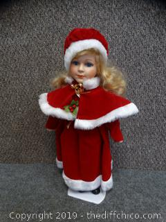 Porcelain Christmas Doll