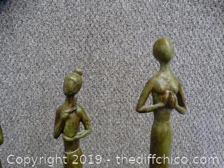 3 Home Decor Statues