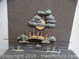 Moonlight Garden Metal Wall Art