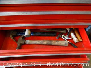 Craftsman 3 Piece Rolling Tool Box With Contents