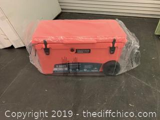 Driftsun 70 Quart Performance Rolling Ice Chest- Insulated Rotomolded Cooler - Coral (J1)