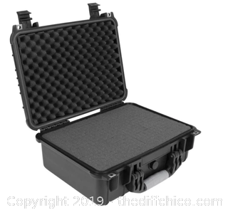 ELKTON OUTDOORS HARD 4 PISTOL GUN CASE WITH LOCKING HOLES & AUTO PRESSURE ADJUSTMENT (J6)