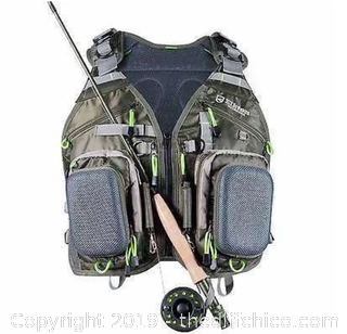 Elkton Outdoors Fly Fishing Vest Backpack With Wading Pack (J11)