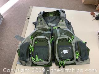 Elkton Outdoors Fly Fishing Vest With Mesh Multi-Pocket Storage (J12)