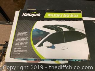 RAKAPAK INFLATABLE SKI AND SNOWBOARD RACKS (J31)